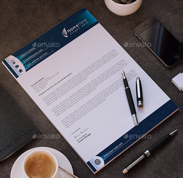 Business Letterhead InDesign Template