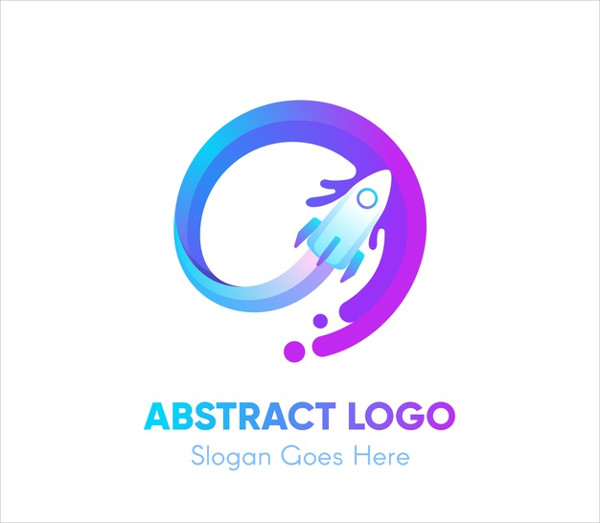 Logo Template with Abstract Shapes Free