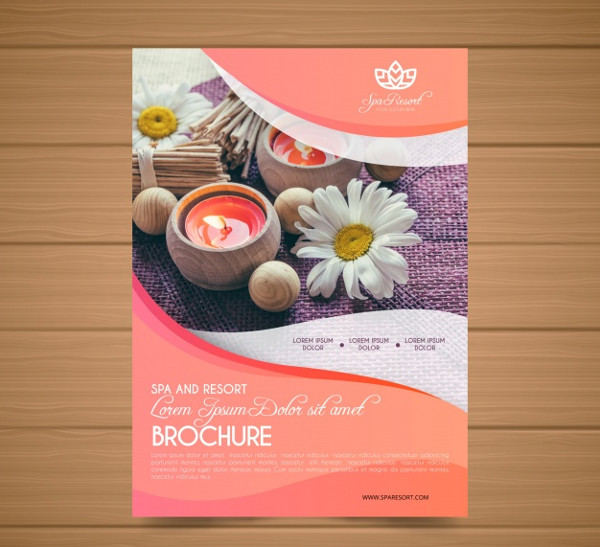 Lovely Spa Promotional Flyer Template Free Download