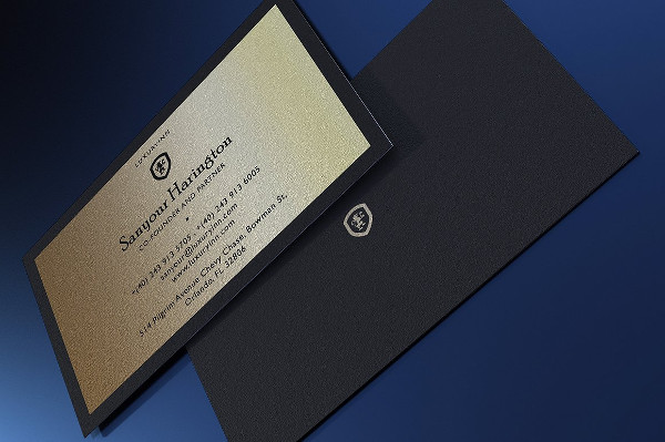 Luxurious Gold and Black Business Card Template