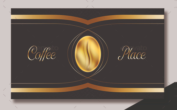 Luxury Cafeteria Business Card PSD
