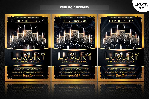 Luxury Champagne Flyer Template