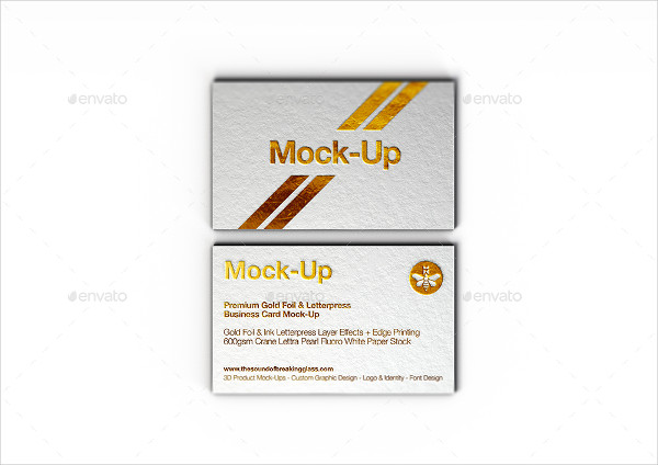 Luxury Gold Foil Business Card Template