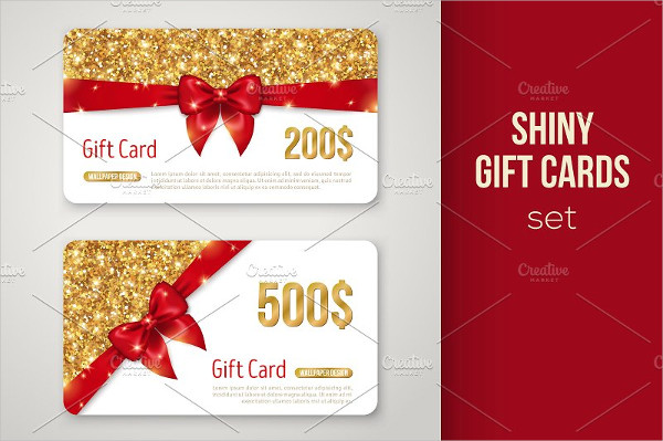 Luxury Holiday Gift Cards Design
