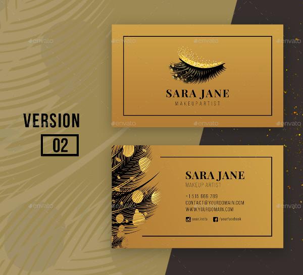 Luxury Makeup Artist Business Card Design