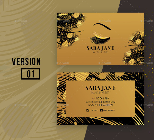 Luxury Makeup Artist Business Card Template