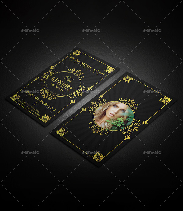Luxury Photography Business Card Design