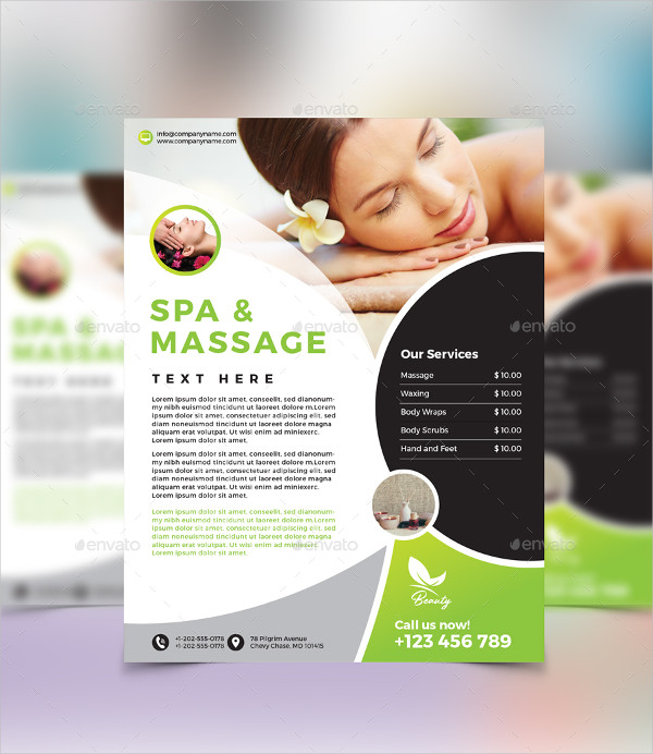 Best Spa & Massage Flyer Template