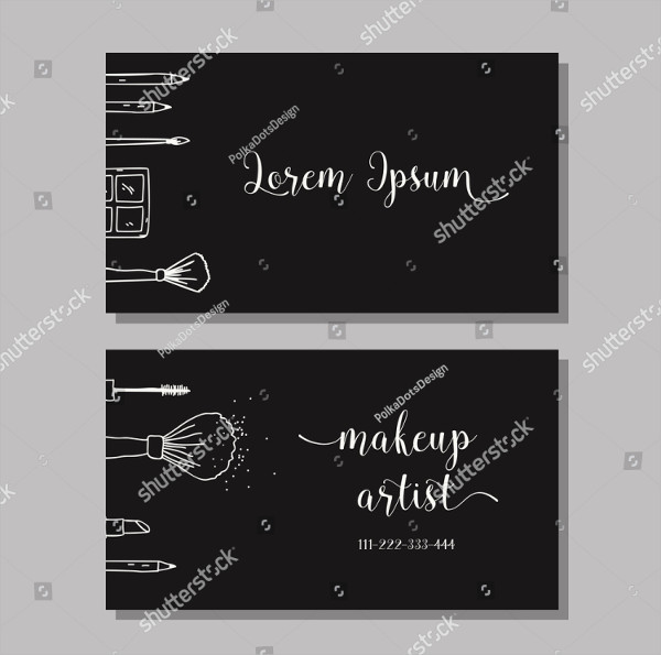 Makeup Artists Business Card Vector Template