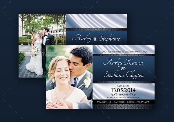 Printable Marriage Invitation Card Template