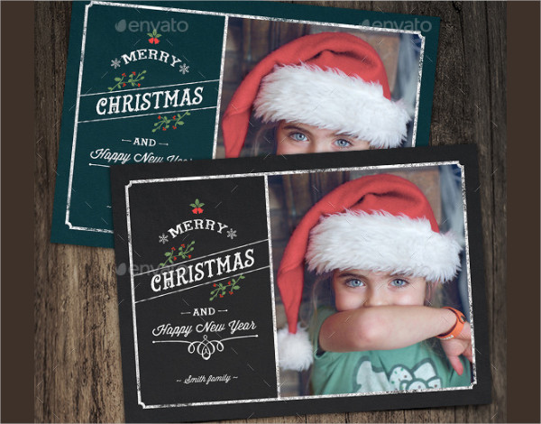 Personalized Merry Christmas Photo Card Design
