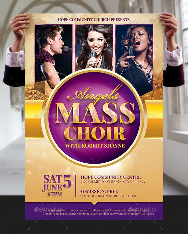 Mass Choir Concert Poster Template