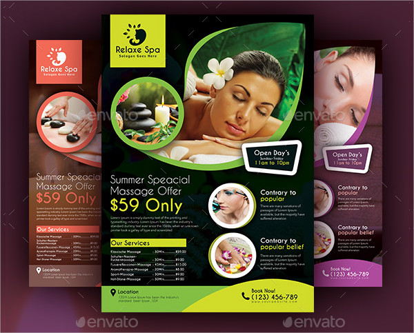Custom Spa Party Flyer Template
