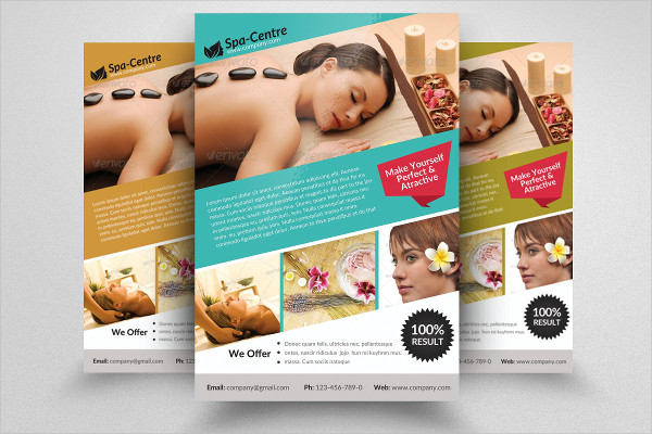 Beauty Spa Massage Flyer PSD