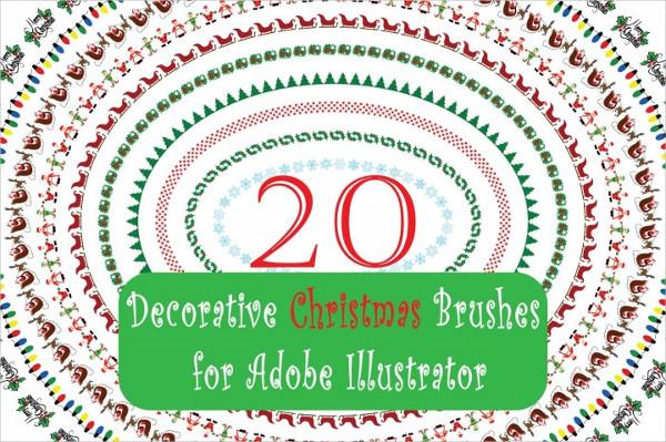 Merry Christmas Illustrator Brushes
