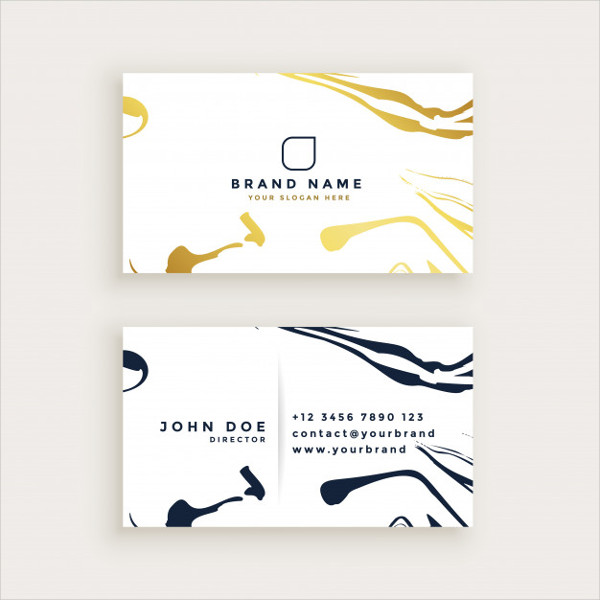 Minimal Style Business Card Design Free