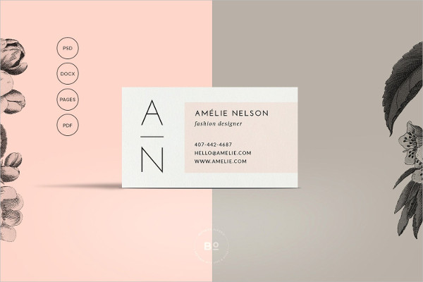 Minimalist Contact Card Template