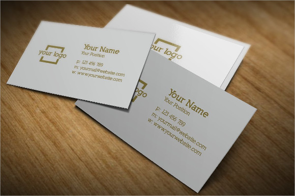 Minimalist Gold Business Card Template