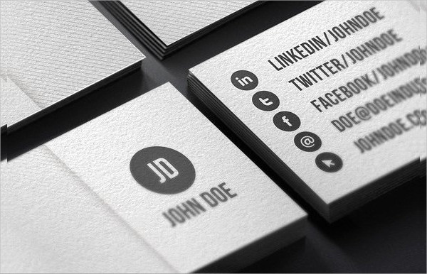 Minimalist White Business Card