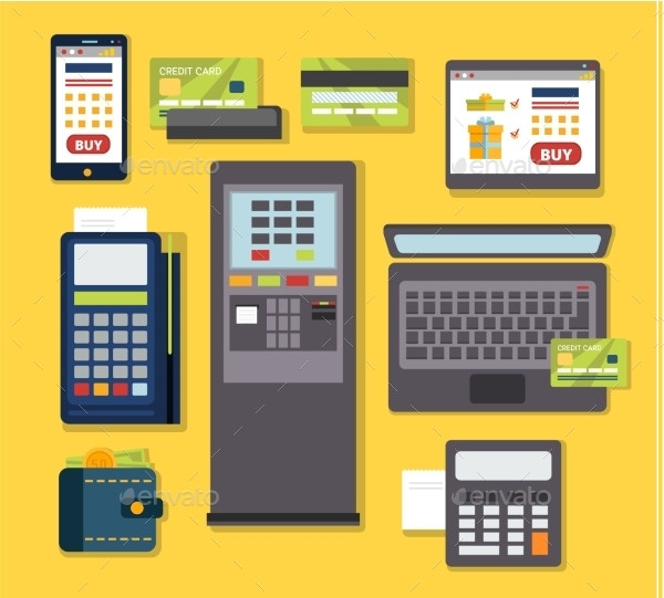 Mobile Payment Icon Set