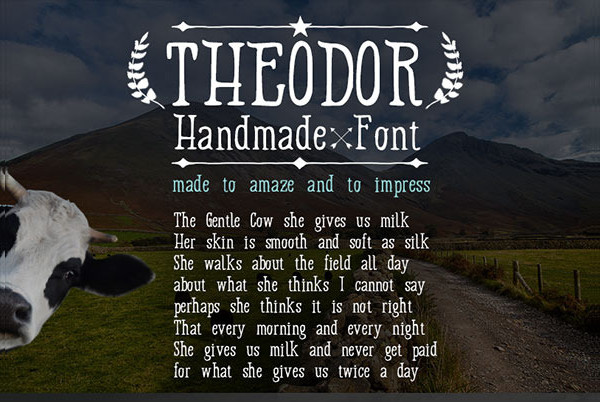 Modern Hand Drawn Font