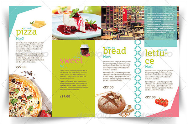 Modern Menu InDesign Template