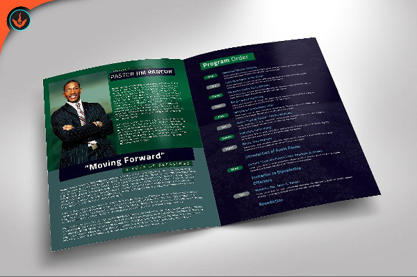 Modern Pastor's Appreciation Program Brochure Template