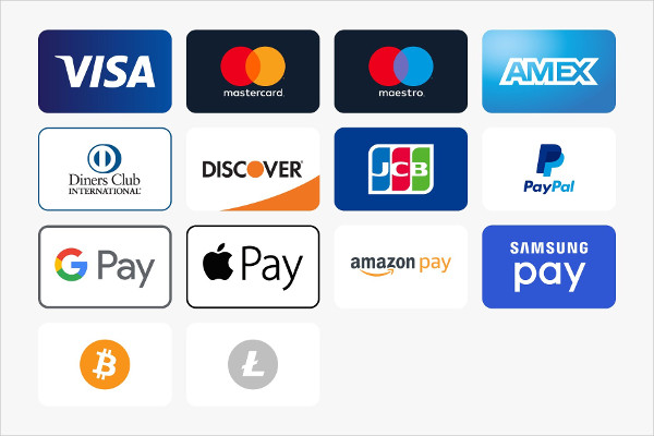 Modern Payment Method Icons Pack