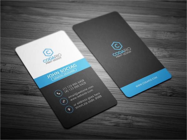 Modern Studio Vertical Business Card