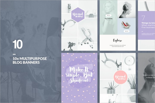 Multipurpose Blog Banners Designs Pack