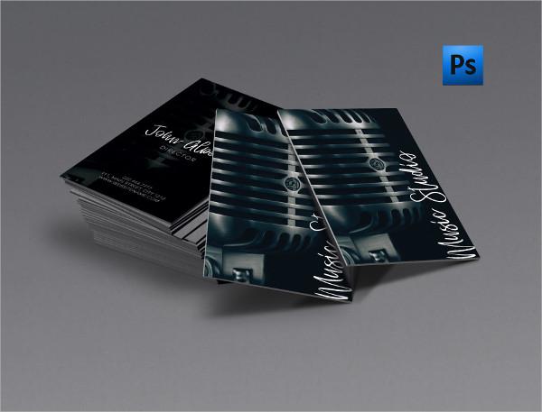 Music Studio Singer Business Card