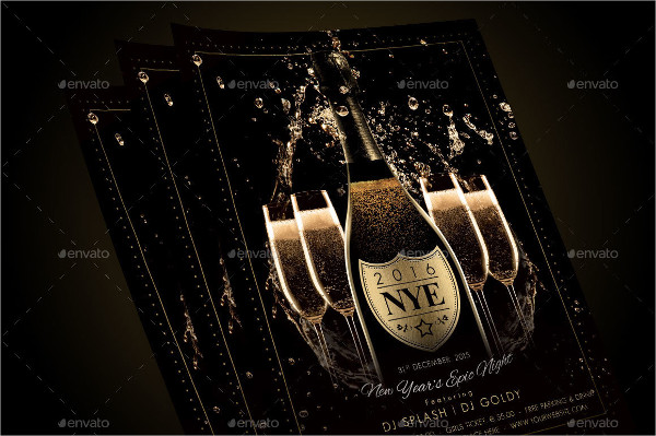 New Year's Eve Champagne Flyer