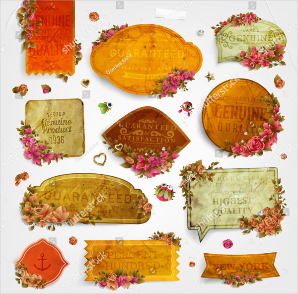 Old Flower Label Templates