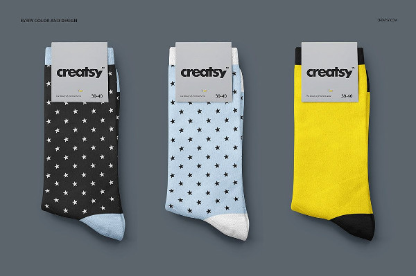 Online Socks Mockups Set