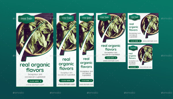 Organic Food Banner Design Pack