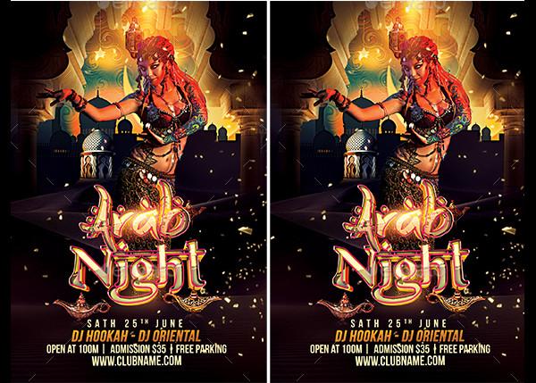 Fully Editable Oriental Night Flyer