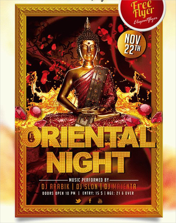 Oriental Night Free Flyer PSD Template