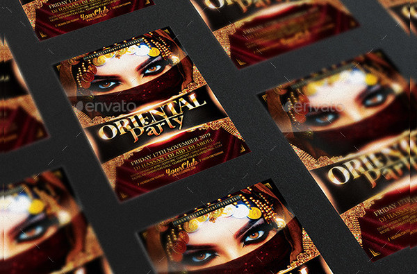 Oriental Party Luxury Night Flyer PSD Template
