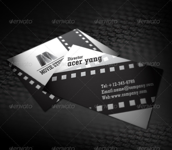 PSD Movie Studio Business Card Design