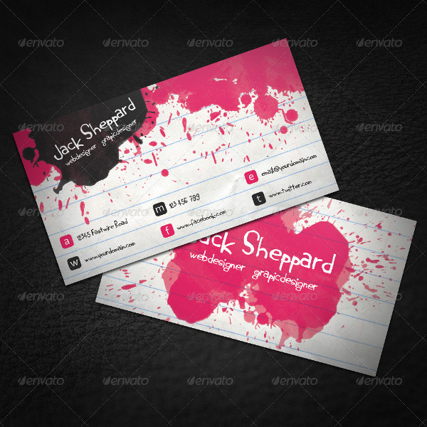Paint Notepad Business Card Design