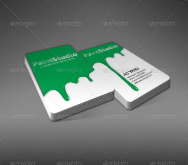 Paint Studio Business Cards Templates
