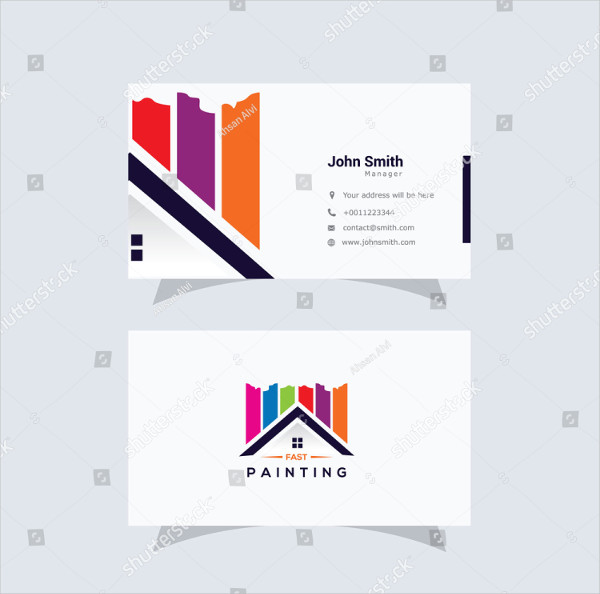 Painting Logos Business Card Template