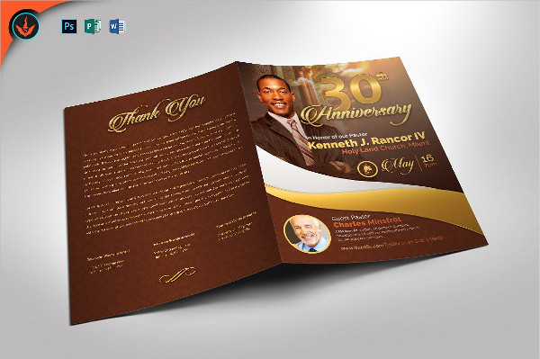Pastor's Anniversary Program Template