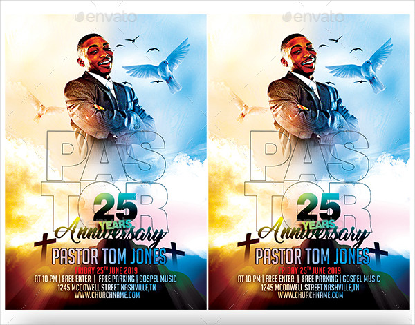 Pastor Anniversary Church Flyer