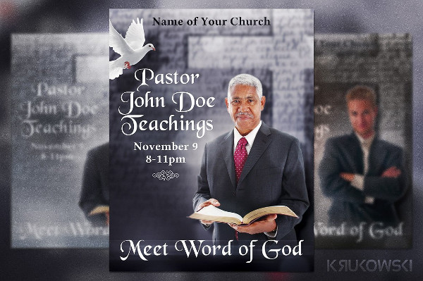 Pastor Teachings Flyer Photoshop Template