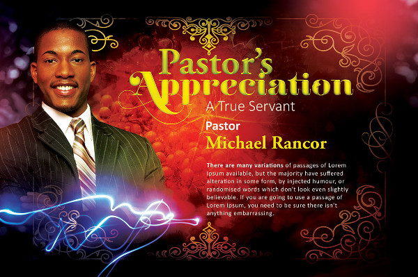 Cool Pastor's Appreciation Church Flyer