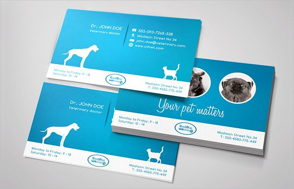 Perfect Business Card for a Veterinary Doctor