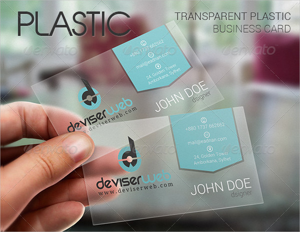 Personal Transparent Plastic Business Card
