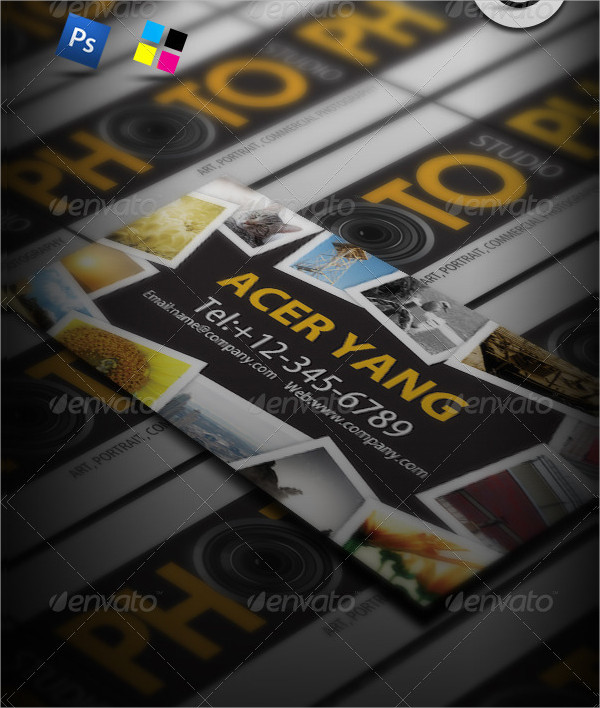Photo Studio Business Cards Design