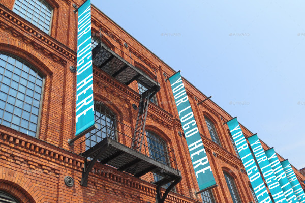 Photorealistic Vertical Advertising Banners